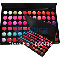 Professional 66 Colors Gorgeous  Lip Gloss Lipsticks Palette Cosmetic Makeup Set Free Shipping