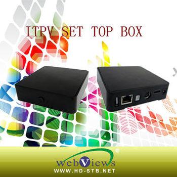 MPEG4/2/1 IPTV decoder set top box STB