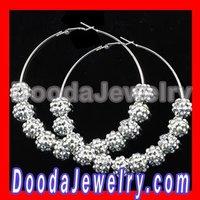 Fashion Basketball Wives Earrings Rhinestone Hoop Earrings wholesale BW3050 Free Shipping
