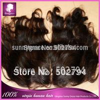 "Free shipping Virgin Brazilian Lace Frontal 13x4"" Bleached Knots Virgin Frontal Piece  Full Lace Frontal Brazilian Wavy"