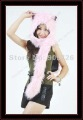 Free Shipping SPIRIT FLUFFY PLUSH ANIMAL HOOD HATS WITH LONG SCARF AND MITTENS PINK WOLF