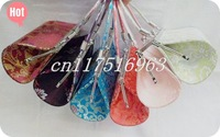 Free shipping! 10 PCS Satin ladies evening unique purse handbags Makeup bag