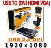 USB To VGA/DVI/HDMI Multi-Display Adapter Converter usb graphics card ,External video card +FREE SHIPPING