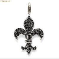 Free Shipping  wholesale  Bourbon Fleur de lis charms ,925 silver charm pendants,925 sterling silver jewelry,fashion pendants