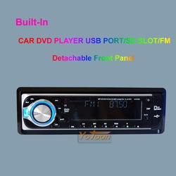 One Din Car DVD Player / Welcome wholesale / Detachable Front Panel CAR DVD PLAYER with AM/FM and AUX INPUT(China (Mainland))