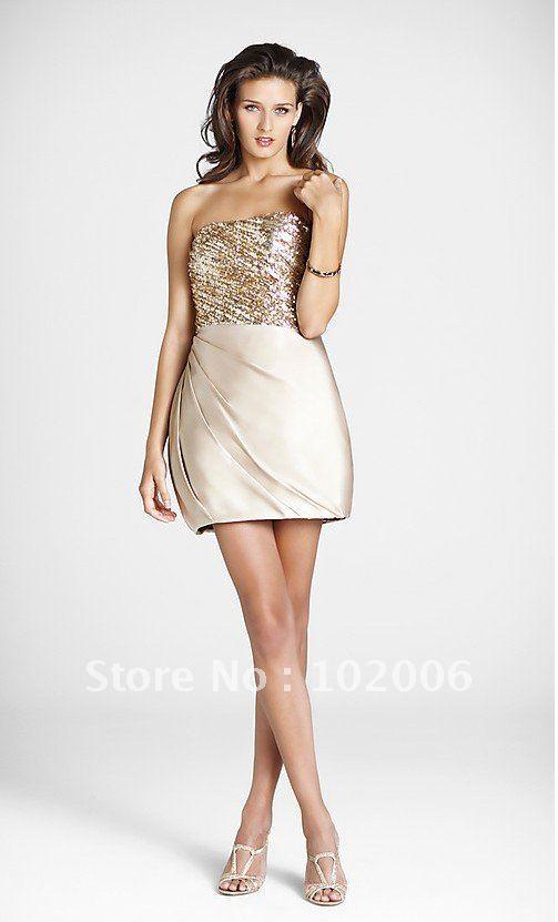 Gold Sequin Cocktail Dress Sequin Cocktail Dress