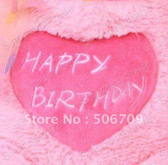 Teddy Bear Pink Happy Birthday