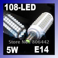 5W E14 108-LED Corn Light Bulb Lamp Cool White 200-230V Free Shipping Dropshipping