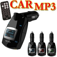 Car Wireless FM Transmitter Modulator Vehicle Handsfree kit MP3 Player USB SD Free Shipping + Drop Shipping
