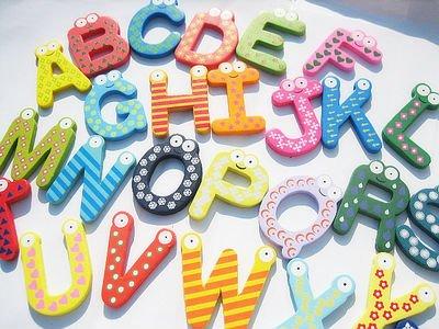 130pcs партии буквы Холодильник магнит, магниты
