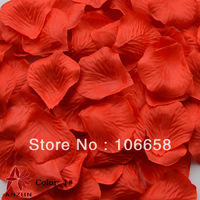 Free Shipping 1000pcs/lot Rose Petals Wedding Chrismas Party Decorations Red