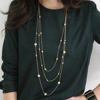 53# Korean Fashion 3 layer Bohemia Beads Long Necklace NEW!!