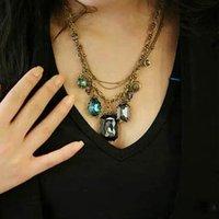 94# Fashion Baroco Style Nice Big Blue Rhinestone Necklace