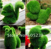 Free shipping 12 pcs/lot Grassland Artificial Grass Deco Creative Handicraft (Rabbit Squirrel Alpaca Dog)