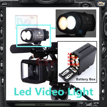 ZF2000 ZF-2000 Hot shoe LED VIDEO Light Lamp Lighting 2000LM 5600k 2x CREE XML U2 for Camera Camcorder DV  DSLR pf019