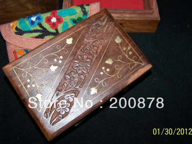 TJB976 Indian handmade wooden vintage jewelry box,155*100*60cm,Bodhi wood square case,Resale & Wholesale,Free shipping(China (Mainland))
