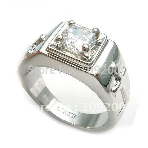 Free Shipping 18k White Gold Plated Fashion Cross Men Ring 092718 SZ8-11(China (Mainland))