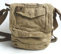Free shipping! Men's Messenger Shoulder Bag Sling Bag washed canvas casual Sports bag leisure bag 600-5 khaki