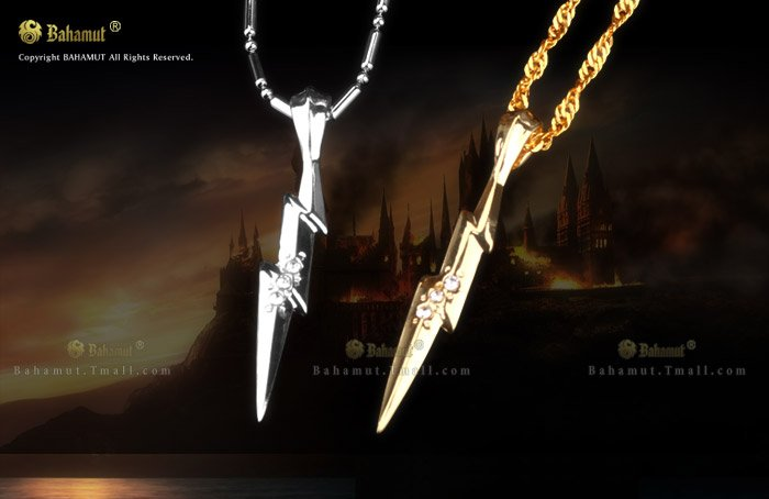 Free Shipping - Harry Potter Gold Magical Lightning Pendant Necklace - Cosplay Costume Jewelry(China (Mainland))