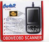 Fast shipping super C100 Auto Scan OBDII/EOBD Code Reader OBD2 code scanner C100