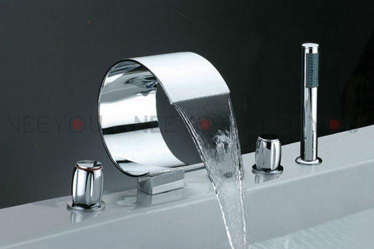 lusso-rubinetti-cascata-5-fori-miscelatore-bagno-con ...