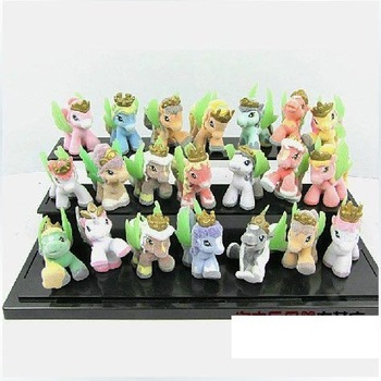 Free Shipping Lovely princess pony plush toy 21pieces/set