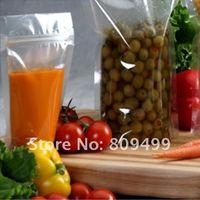 "100pcs  10x15cm=4x6"" Wholesale clear Transparent Ziplock Stand Up Bag Moisture Reclosable free shipping D010b-100"