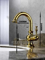 gold color polished faucet,gold color faucet,new design,luxury faucet,promotion