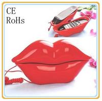 fashion amazing lip telephone  mouth shape telephone funny telephone set