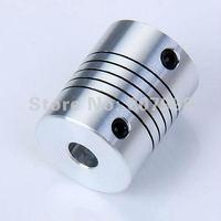Safe Shipping,Aluminium Flexible CNC Stepper Motor Shaft Coupler,Inner Diameter: 6.35*8mm