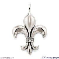 Free Shipping wholesale big Fleur de lis  pendant charms ,925 silver charm pendants,925 sterling silver jewelry,fashion pendants