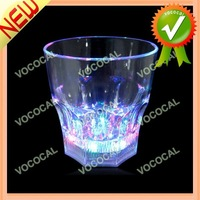 Octagonal Base LED Flashing Night Decor Light Lamp Whisky Glass Cup, Free Shipping, Dropshipping