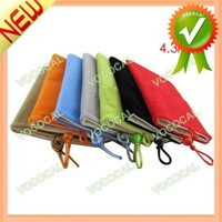 "4.3"" Velvet Pouch Bag for iPhone iPod MP3 MP4 Camera, Free Shipping, Mini Order 1 pcs"