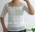 Occident Style 100% Hand Crocheted Half Sleeve Pullovers
