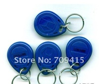 Free Shipping 100pcs RFID Key Fob,125KHz RFID Tag,RFID key fobs Proximity Tag Token Tag Key Rings  for access control