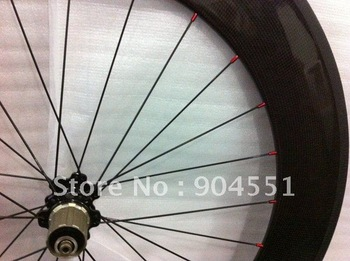 carbon fiber bicycle wheelset bike wheel rim size 50mm tubular black hubs with spokes