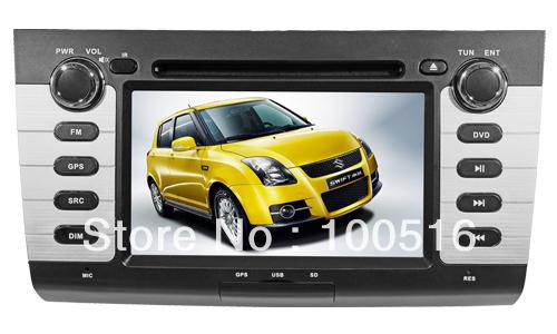 Special Car DVD Player For Suzuki Swift With GPS ,Bluetooth,iPod,Radio,Analog TV,Steering Wheel Control(China (Mainland))