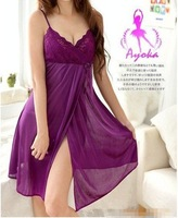 Sexy Costumes Purple Cardigan Costume Sex women's lingerie 100% stand new Factory price Free Shopping