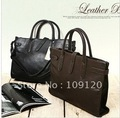 FREE SHIPPING +  leather briefcase bag+ Laptop business handbag messenger men bags camputer