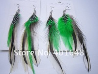 12 Pairs Feather Earrings Mixed Assorted Colorful Long Feather Earrings Have in Stock