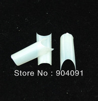 500 pcs Tubular French Tip,there have Color Natural 50pcs x 10sizes packed in one bag.Free shipping