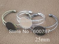 25mm lace bangles, bracelet settings, bracelet findings, bracelet blanks