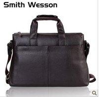 Free shipping ,leather brifecase,100%Genuine leather shoulder bag/cowhide messenger bag/multi-funtion handbag coffee/brown,black