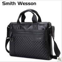 Free shipping ,  leather brifecase,100%Genuine leather shoulder bag/cowhide messenger bag/multi-funtion handbag ,black