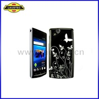 Hard Case for Sony Ericsson Xperia Arc X12, 100pcs/lot Flowers&Butterfly Design IMD PC Case Back Cover----Free Shipping