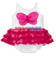New 2012 Lovely Girl's Bowknot Romper with Multilaer Laciness Girl's Summer Romper Girl's Summer Clothes 3pcs/lot