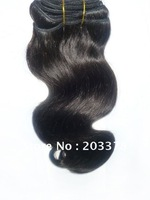 "Retail 12"" Dark Brown Body wave 100% human hair weft,factory outlet price"