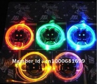 2pairs/lot freeshipping Light lace,Flash shoelaces,Luminous shoelaces,LED Shoelace,2010NEW flashing product