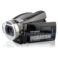 "Digital Camcorder DV HDV8000 3.0""TFT LCD 8X Digital Zoom support 8GB 270 degree rotation max 16MP camera"