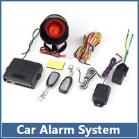 2-Way Auto Car alarm security system Protection with 2 Remote Control burglar Guaranteed 100%